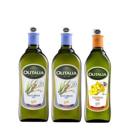 奧利塔玄米芥花超值組 玄米油1Lx2+芥花油750MLx1