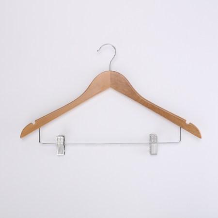 HOLA 楓木衣架附夾衣架