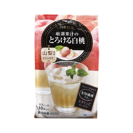 日本日東嚴選白桃水果茶 95g
