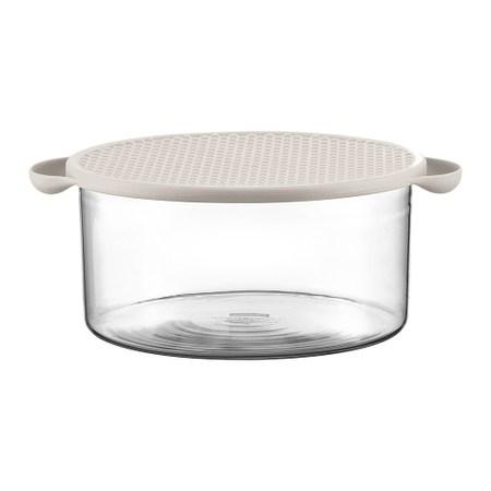 丹麥BODUM 玻璃微波/烤箱烹飪鍋(附蓋)2.5L(兩色可選)白