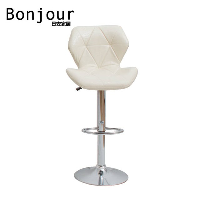 【日安家居】Abigail摩登升降吧台椅(三色)白色