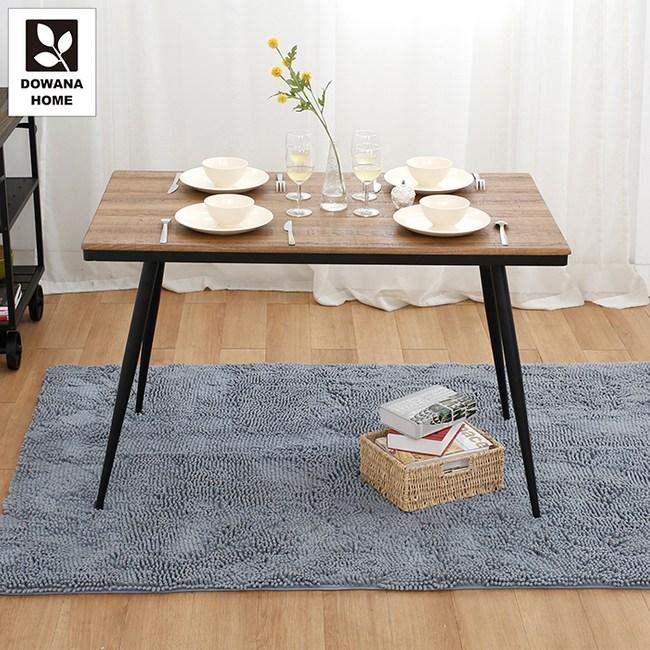 【多瓦娜】內爾造型DIY餐桌/二色胡桃