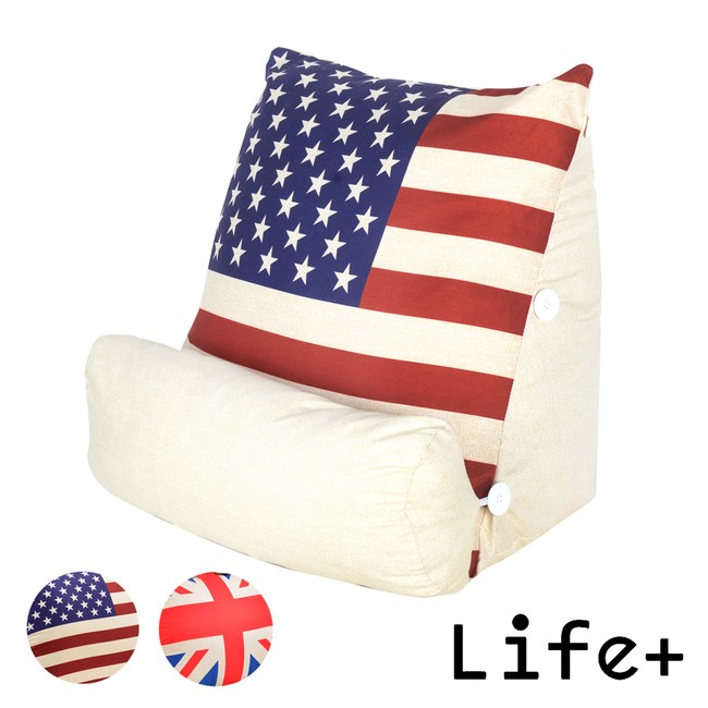 Life Plus 英倫美風立體舒壓靠枕/抱枕/腰靠枕_美國國旗