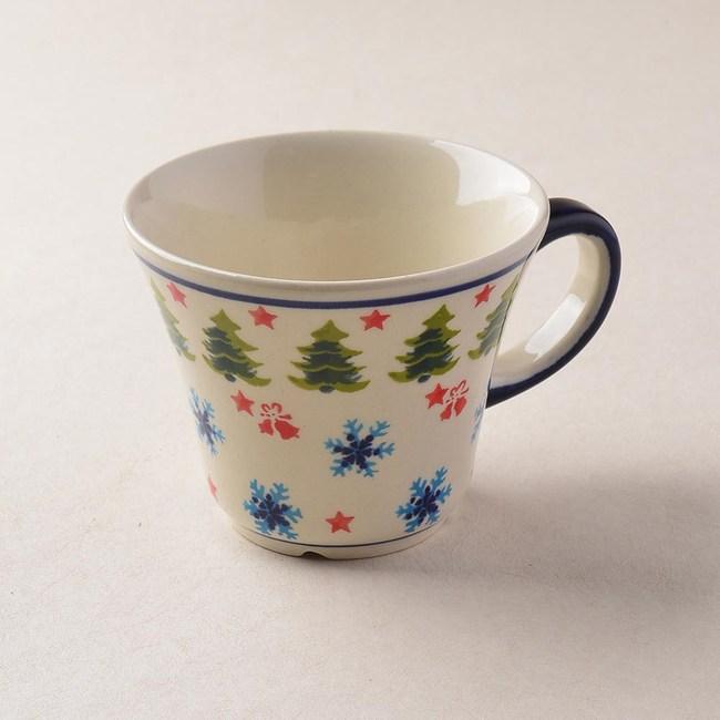 波蘭陶 耶誕雪花系列 寬口茶杯 240 ml 波蘭手工製