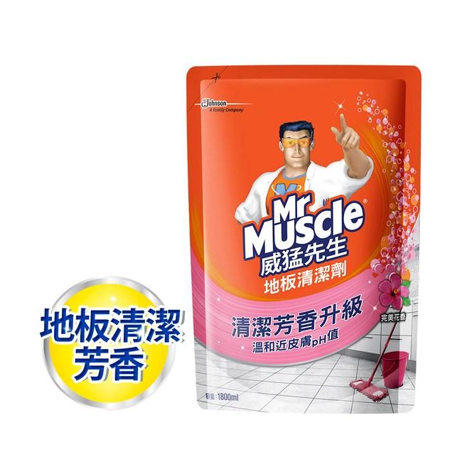威猛先生 地板清潔劑補充包-完美花香1800ml/6入箱購