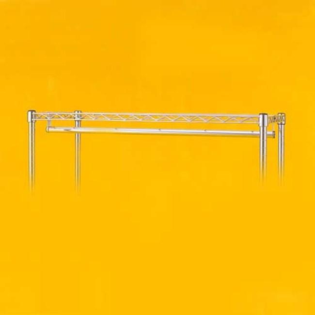 特力屋 PRO特選 鍍鉻吊衣桿 裝卸用左右二勾附屬 120cm