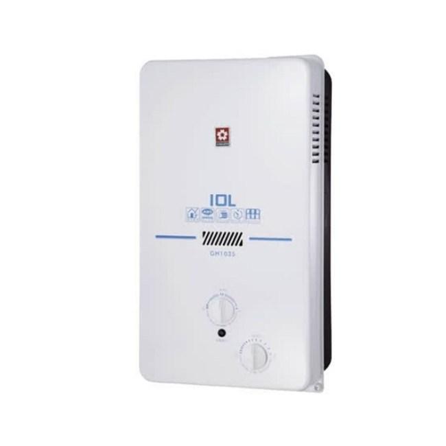 (含標準安裝)櫻花ABS式屋外型熱水器GH-1035桶裝瓦斯