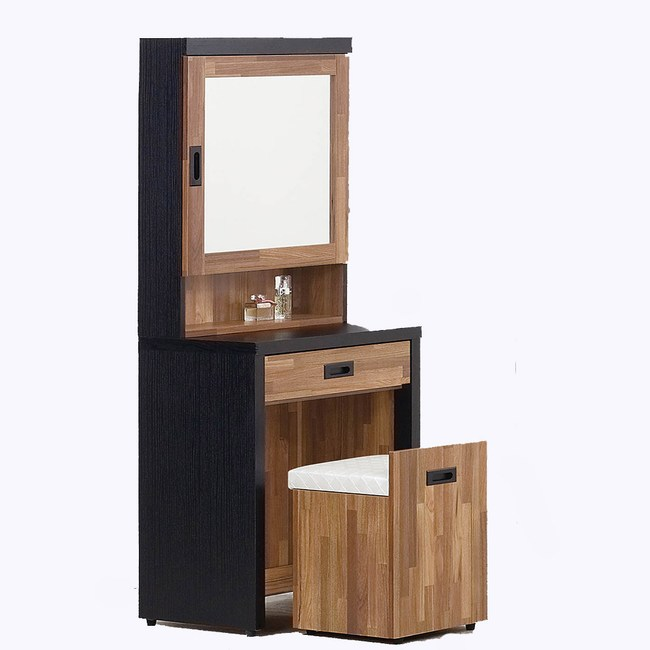 【obis】積層木2尺鏡台-含椅(積層木 2尺 鏡台 含椅)積層木