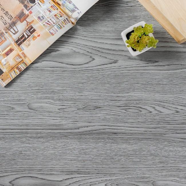 樂嫚妮 送小刀-地板貼DIY仿木紋地貼-1.5坪 126-煙燻灰橡木X36