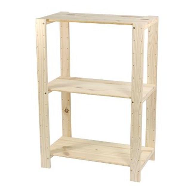 特力屋 PRO特選 松木可調整三層架 59x32x85cm