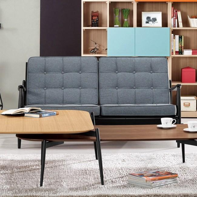 【H&D】艾卡爾休閒沙發雙人椅