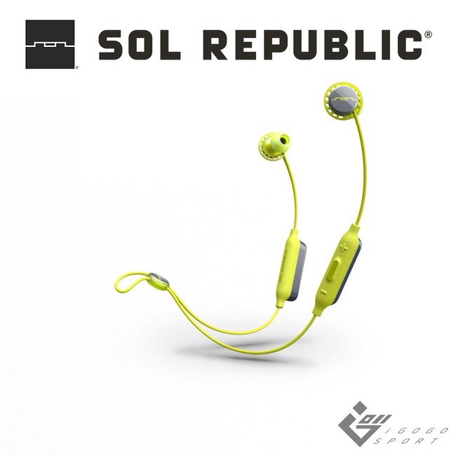 SOL REPUBLIC Relays 藍牙運動耳機檸檬黃