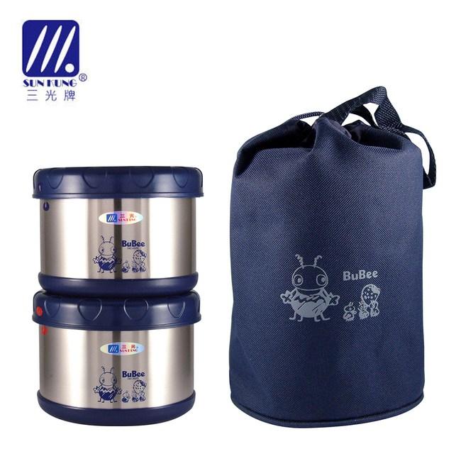 【三光牌】蘇香不鏽鋼保溫便當盒/食物罐 雙入組0.5L*2(顏色隨機)