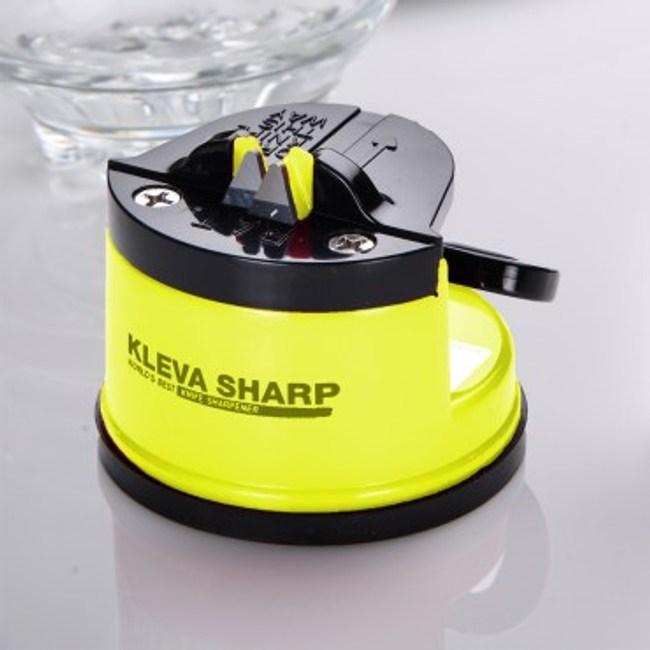 KLEVA SHARP 吸盤式安全磨刀器-黃