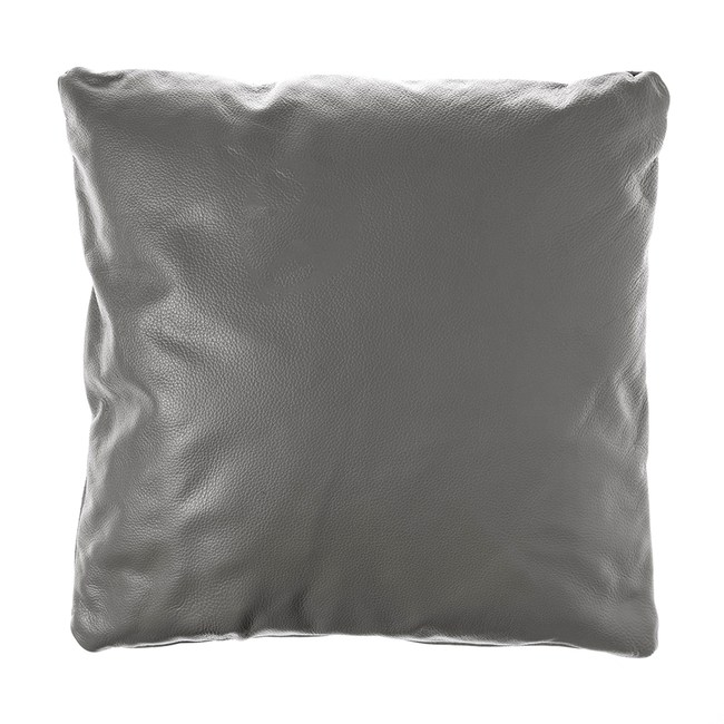 KUKA全牛皮抱枕45x45cm 深灰色