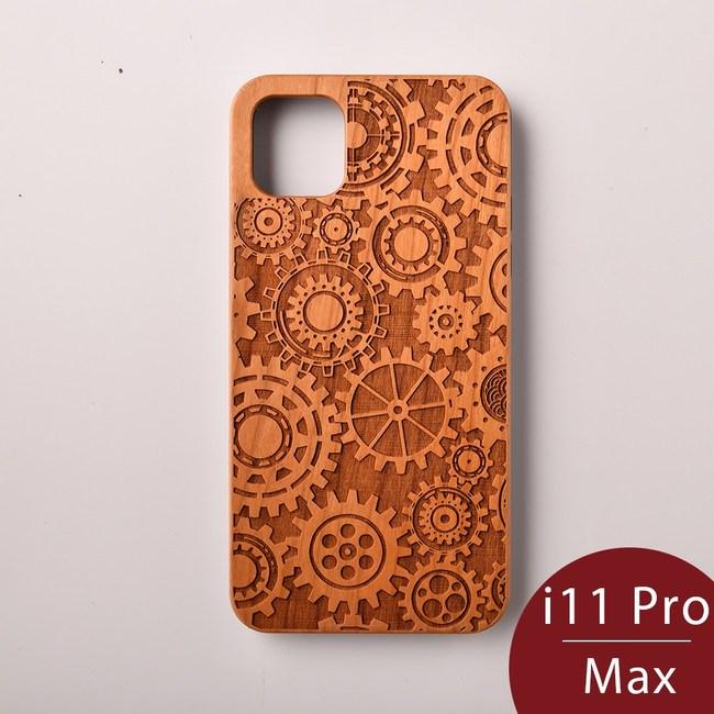 Woodu木製手機殼時空齒輪iPhone 11 Pro Max適用