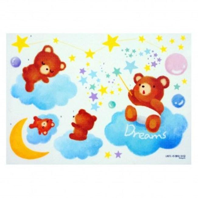 韓國Decoin大型創意夜光壁貼 小熊寶寶