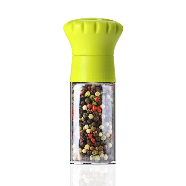 MIX可調式胡椒研磨瓶100ml-萊姆黃(CROWN)