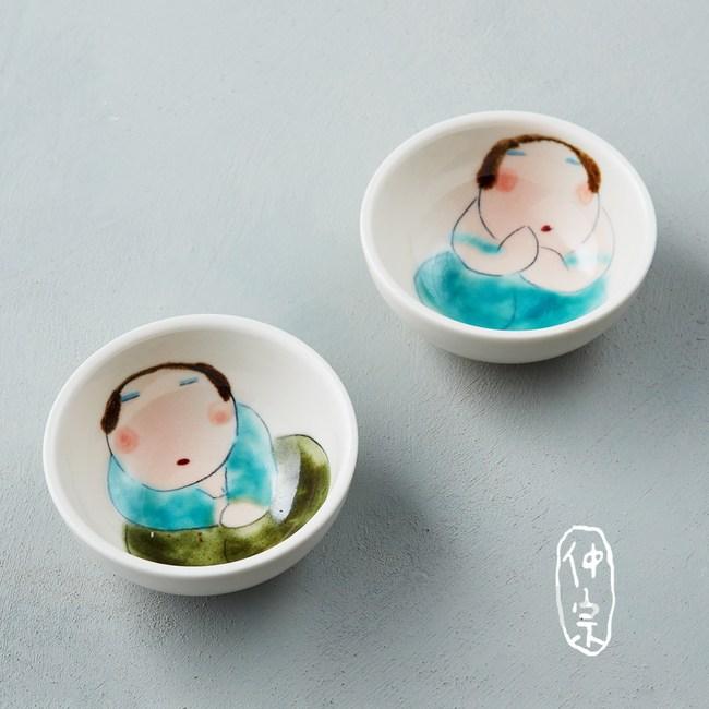 吳仲宗|胖太太系列 - 小圓杯 - 月夜薄紗藍 (雙件組)
