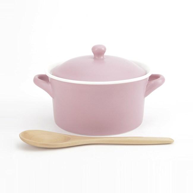 HOLA 多功能蓋碗附木匙 粉
