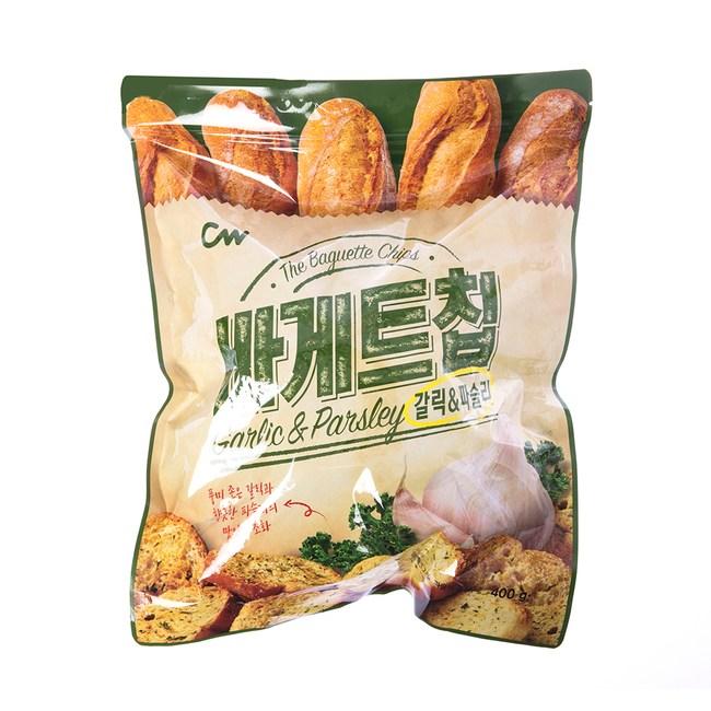 韓國CW大蒜麵包餅乾400g