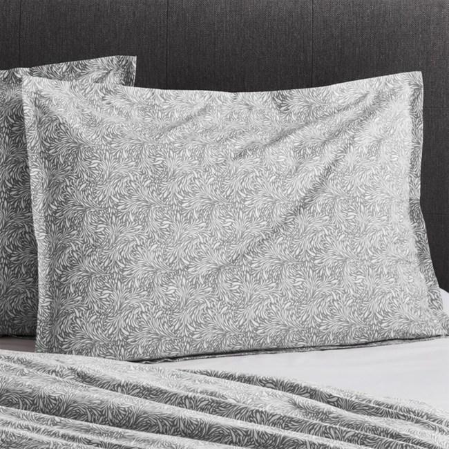 Crate&Barrel Ellio 有機棉枕頭套 灰