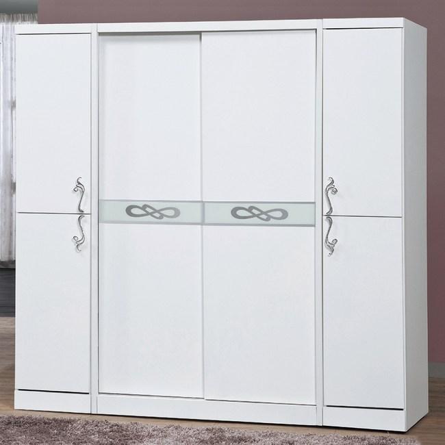 【YFS】艾文7x7衣櫃-201x60x198cm(兩色可選)白色