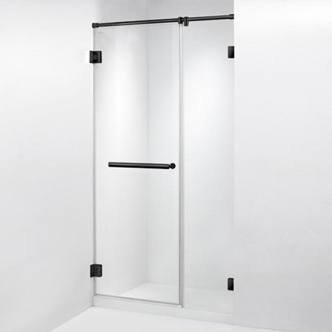 ITAI 毅太淋浴拉門-皇冠5800黑珍珠系列一字型單開門+121~150x200內-EC