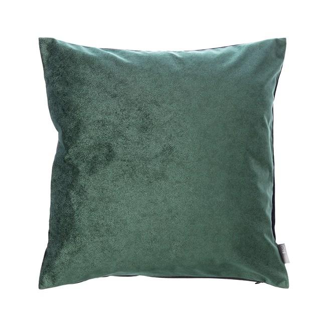 HOLA 素色星悅雙色抱枕60x60cm 深綠色