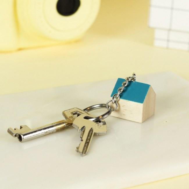 DOIY|甜蜜小窩-鑰匙圈(藍綠)