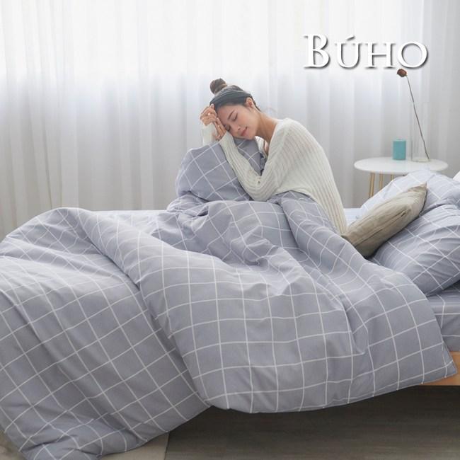 BUHO 雙人加大四件式舖棉兩用被床包組(光時漫記)
