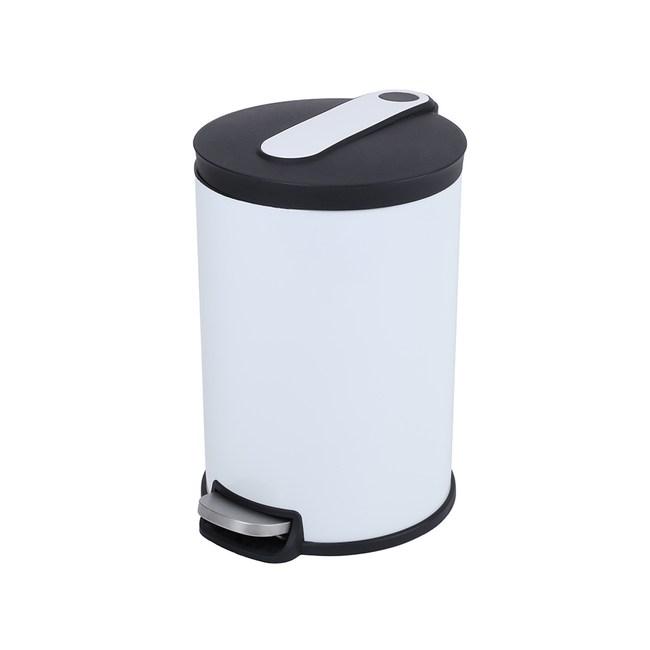 HOLA 阿道夫緩降踏式垃圾桶 12L 白