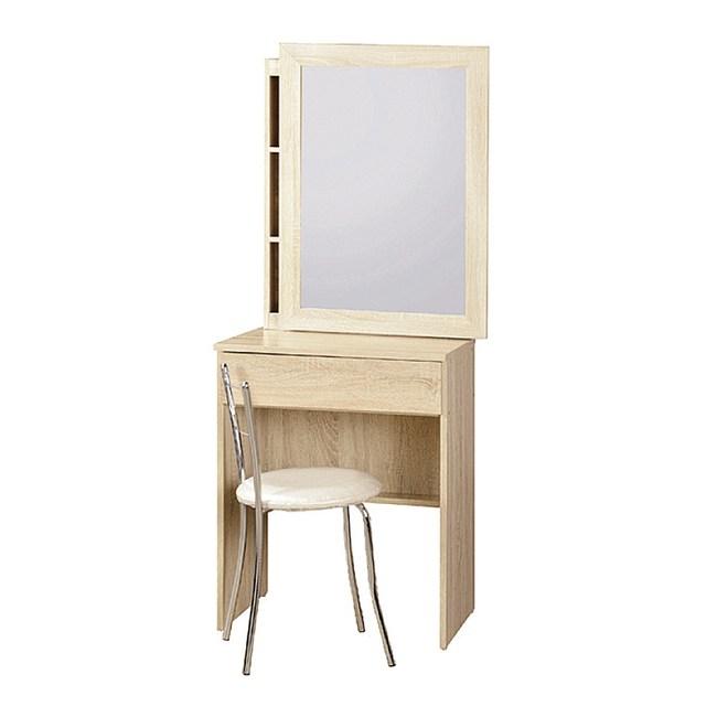 【YFS】布魯克2尺原切活動鏡化妝桌-60x43x159cm