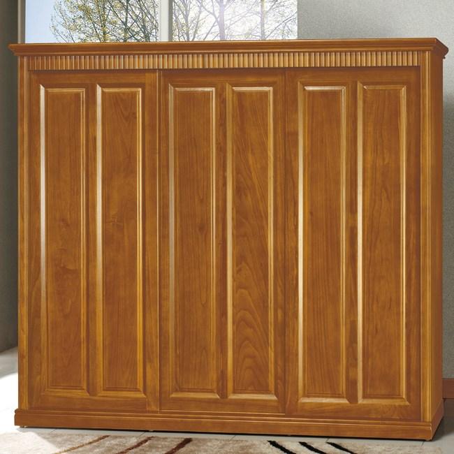 【YFS】西迪柚木色5x7尺衣櫥-233.5x65x210cm