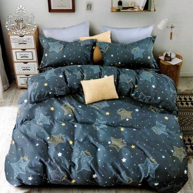 AGAPE 亞加‧貝《星語閃爍》MIT舒柔棉加大6尺三件式薄床包組