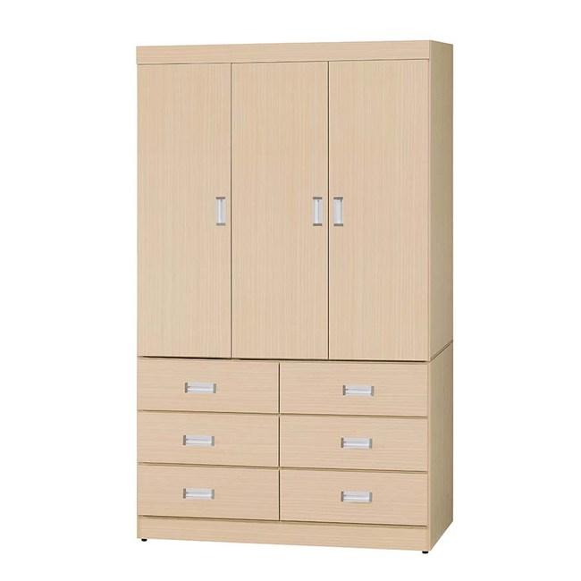 【obis】白橡色4*7尺衣櫥