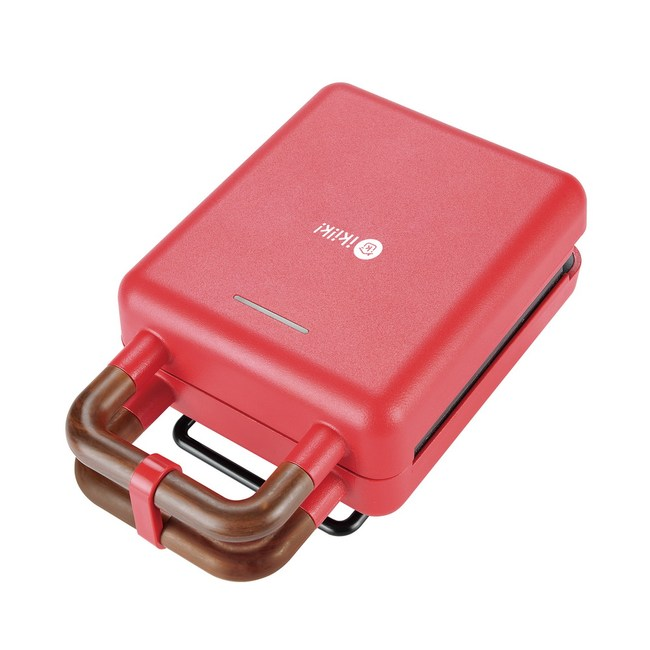 ikiiki二合一熱壓吐司機(紅)IK-SM2001