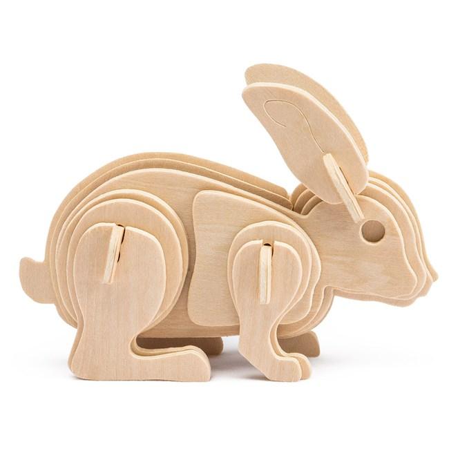 木質拼圖系列-可愛兔 JP223