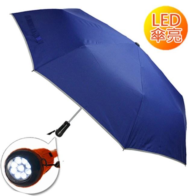 2mm LED極光安心自動開收傘_深藍