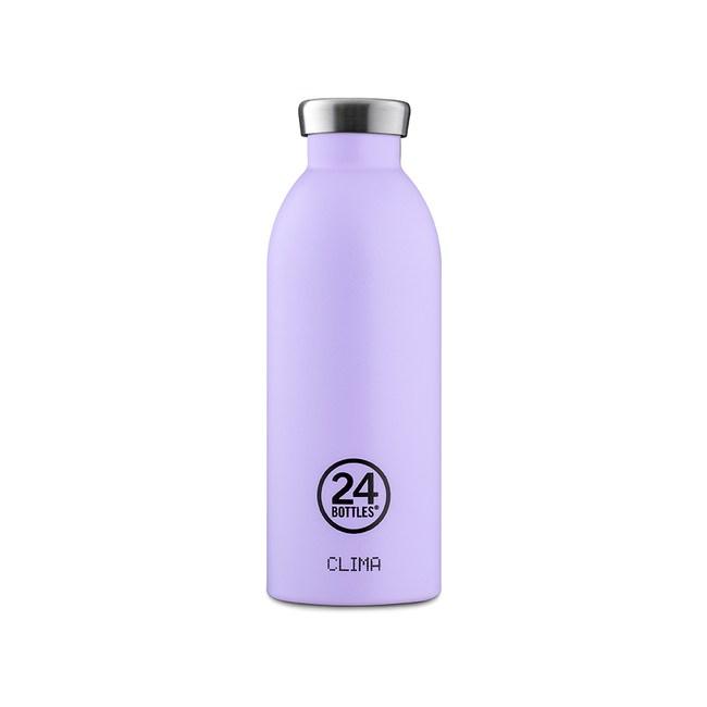 義大利 24Bottles 不鏽鋼雙層保溫瓶500ml - 薰衣草