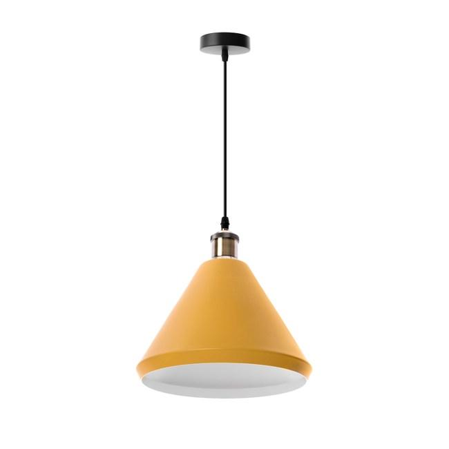 (組)特力屋萊特古銅吊燈黃鐵燈罩