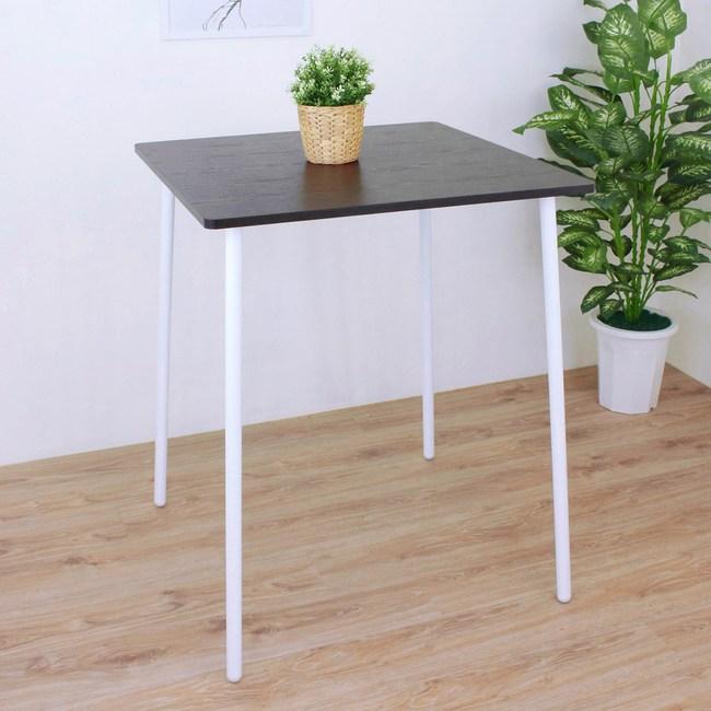 【頂堅】方形吧台桌/高腳桌/餐桌-寬80x深80x高99公分-二色可選深胡桃木色