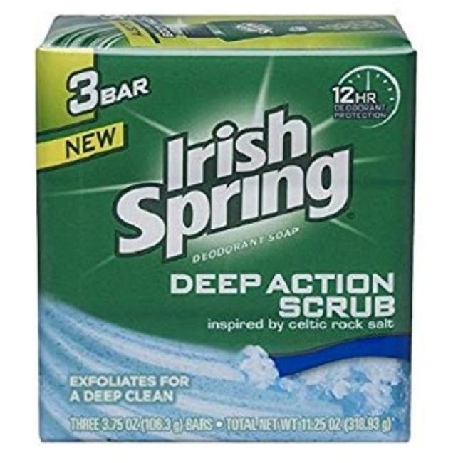 美國Irish Soring體香皂-磨砂去角質(106.3g*3)*9