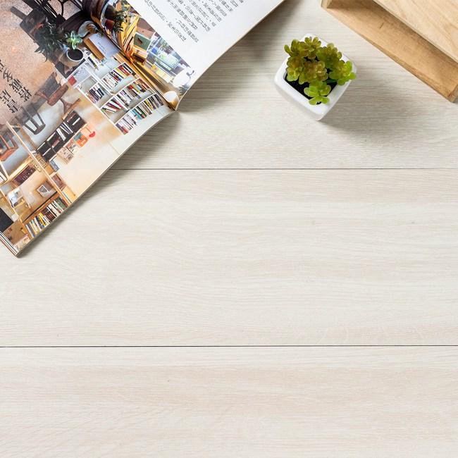 樂嫚妮 DIY仿木紋地板貼-1.5坪 120-乳白白蠟木X36