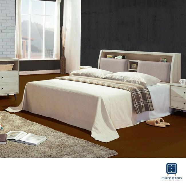 【Hampton 漢汀堡】雨果灰橡6尺雙人床組