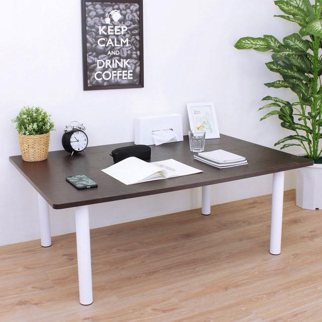 【頂堅】大型和室桌/矮腳桌/餐桌-寬120x深60x高45公分-四色深胡桃木色