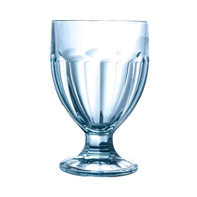 卡麗絲高腳水杯(冰河藍)  250cc