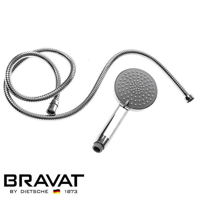 BRAVAT伊萊三段式蓮蓬頭不鏽鋼軟管組-2入