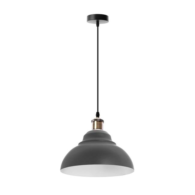 (組)特力屋萊特古銅吊燈暖灰鐵燈罩