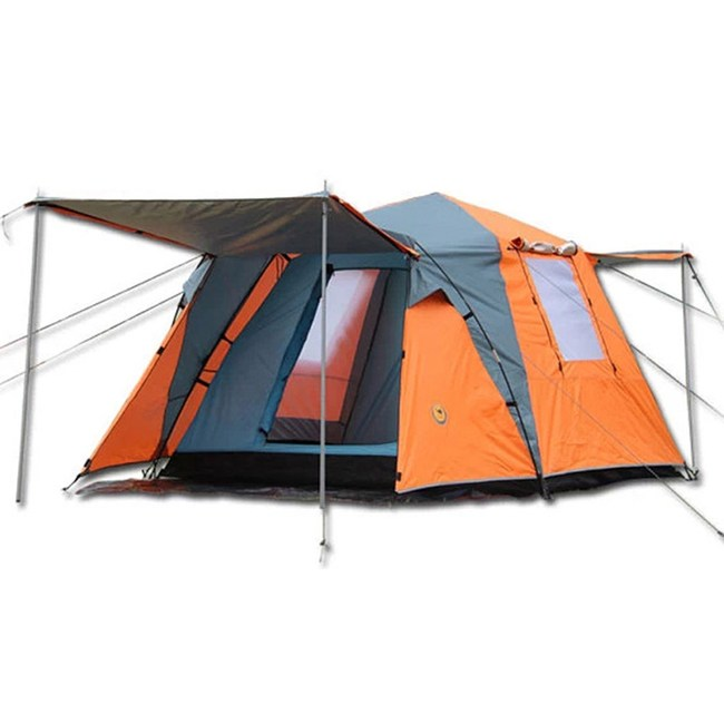 【PUSH!戶外休閒登山用品】加大加寬式4人四季專業型帳篷(二色)藍色P11-1